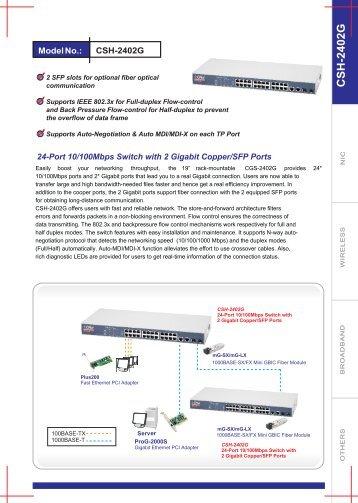 CSH-2402G Datasheets - CNet