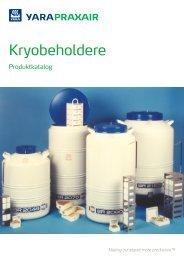 Kryobeholdere - Produktkatalog - Yara Praxair