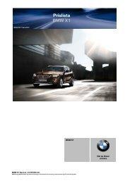Prislista BMW X1