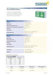 LED - Rettungszeichen- und Sicherheitsleuchte ... - Pfrommer GmbH