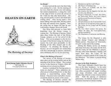 The Raising of Incense - Saint George & Saint Joseph Coptic ...