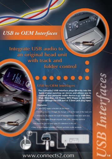 USB to OEM Interfaces 17 - Connects2