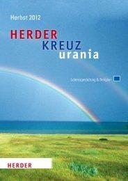 Verlag Herder GmbH, Freiburg: Vorschau Herbst 2012, KREUZ