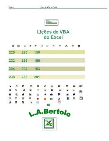Lições de VBA do Excel - Site Prof. Bertolo