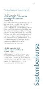 Sprach und Kulturkurse Wintersemester 2012 - Istituto Italiano di ... - Seite 7