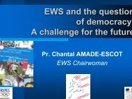 A challenge for the future - EWS European Women and Sport