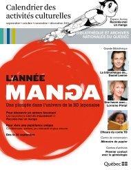 activités culturelles - Bibliothèque et Archives nationales du Québec