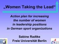 Sabine RADTKE - EWS European Women and Sport