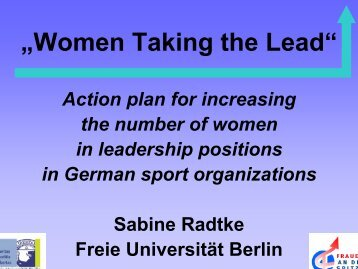 Sabine RADTKE - EWS European Women and Sport