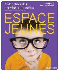 Calendrier des activités de l'Espace Jeunes - Bibliothèque et ...
