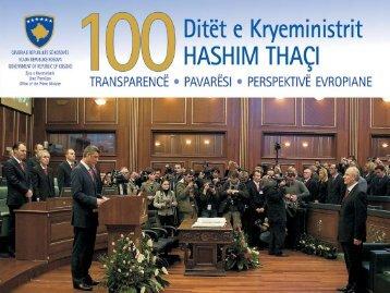 100 Ditët e Kryeministrit HasHim tHaçi - Republika e Kosovës - Zyra ...