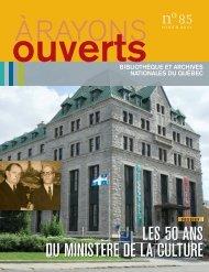 les 50 ans du ministère de la culture - Bibliothèque et Archives ...