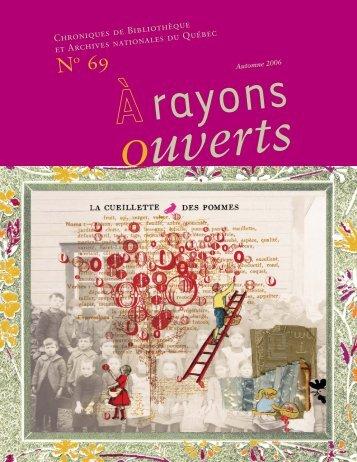 no 69 a rayons ouverts - Bibliothèque et Archives nationales du ...