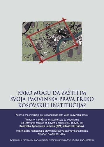Kako mogu braniti svoja imovinska prava putem Kosovskih institucija
