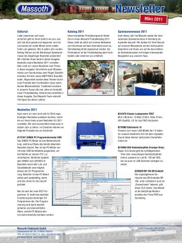 Newsletter - Massoth Elektronik GmbH