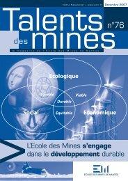 L'Ecole des Mines s'engage dans le développement durable