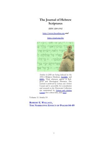 The Narrative Effect of Psalms 84–89 - Fontes