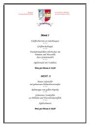 Menüvorschläge für einen festlichen Abend - Ritteressen Salzburg