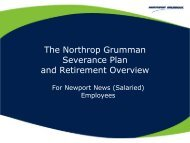 Newport News Salaried Severance with Pension - Benefits Online