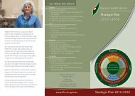 Strategic Plan 2012 - 2016 - Hepburn Health Service