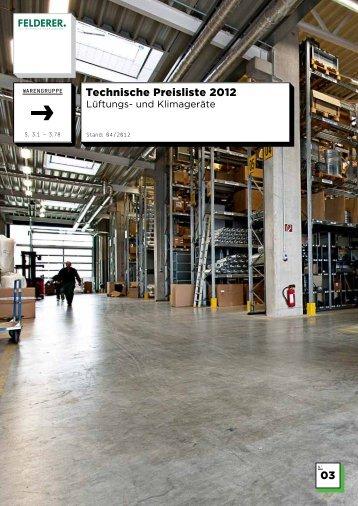 03 Technische Preisliste 2012 - Felderer