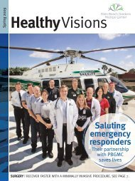 Spring 2009 – Healthy visions - Palm Beach Gardens Medical Center