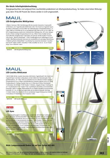 LED-Designleuchte MAULprimus LED-Leuchte MAULswan LED ...