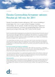 Resultat på 165 mio. for 2011 - Danske Commodities