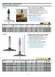 Präzisions Tiefen - Messschrauben Precision Depth Micrometers