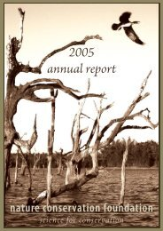 2005 annual report - Nature Conservation Foundation