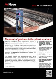 The sound of greatness in the palm of your hand - AMS Neve