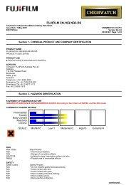 Chemwatch Australian MSDS 31-8731 - FUJIFILM Australia