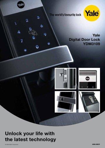 the Yale digital door lock brochure - Joinery Hardware