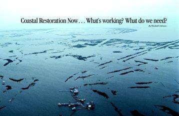 Coastal Restoration Now Web - Louisiana Fisheries