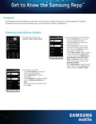 Contacts Entering a new phone contact - US Cellular
