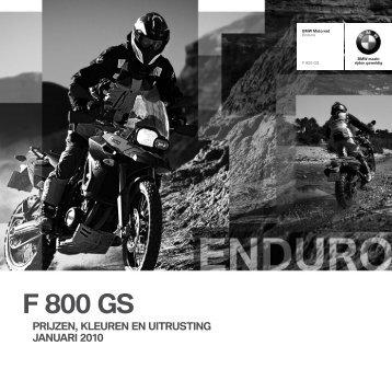 F 800 GS - BMW Motorrad