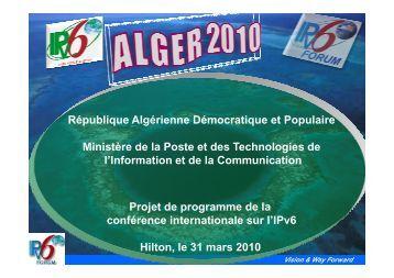 From to From Vision & Way Forward - Ministère de la poste et des ...