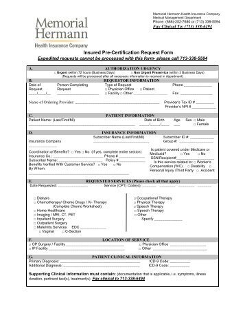 Pre-Screening Notice and Certification Request Form - Lutheran ...