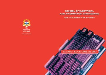 RESEARCH REPORT 2002 and 2003 SCHOOL OF ELECTRICAL ...