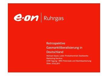 Retrospektive Gasmarktliberalisierung in DE