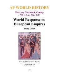 AP WORLD HISTORY World Response to European Empires