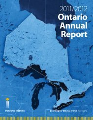 Ontario Annual Report - Insurance Institute of Canada