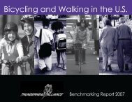 2007 Benchmarking Report - Alliance for Biking & Walking