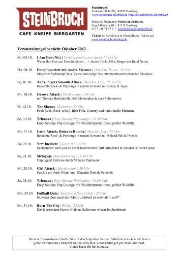 Veranstaltungsübersicht Oktober 2012 - Grammatikoff