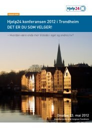 Her kan du se hele programmet for Hjelp24 - Hjelp24 as