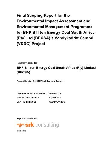 Final Scoping Report for the Environmental Impact ... - SRK Consulting