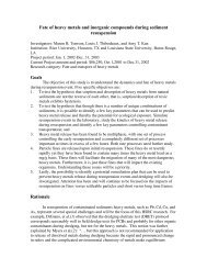 Fate of heavy metals and inorganic compounds during sediment ...