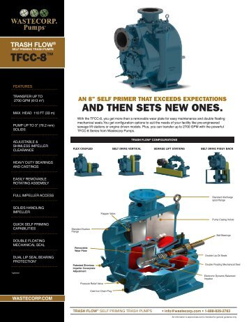 TFCC-8 Specs - Wastecorp Pumps