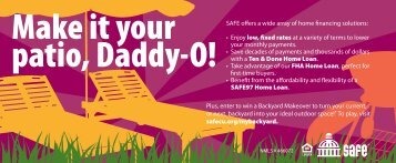 Make It Your Patio, Daddy O!   SAFE Credit Union