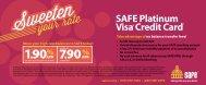 SAFE Platinum Visa Credit Card1 - SAFE Credit Union